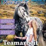 Titelbild der Ausgabe November 2017 des Reiter-Kurier mit dem Titelthema rund um Working Equitation