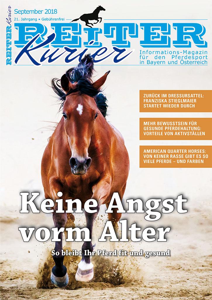 Titel des Reiter-Kurier September 2018