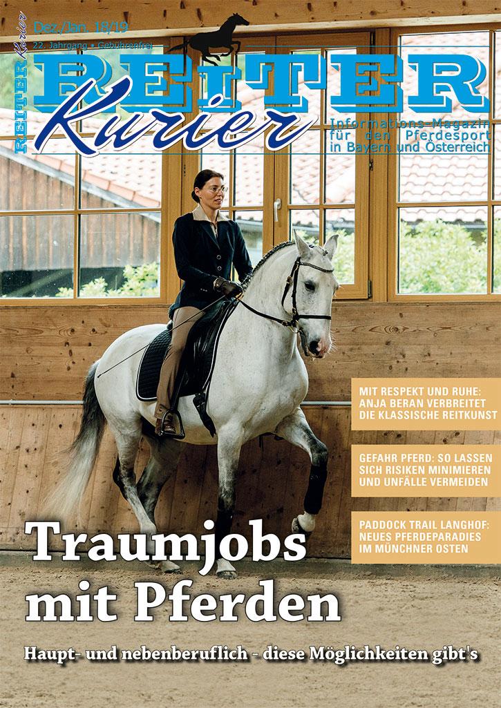 Traumjobs mit Pferden - Titelbild der Reiter-Kurier Ausgabe Dezember 2018