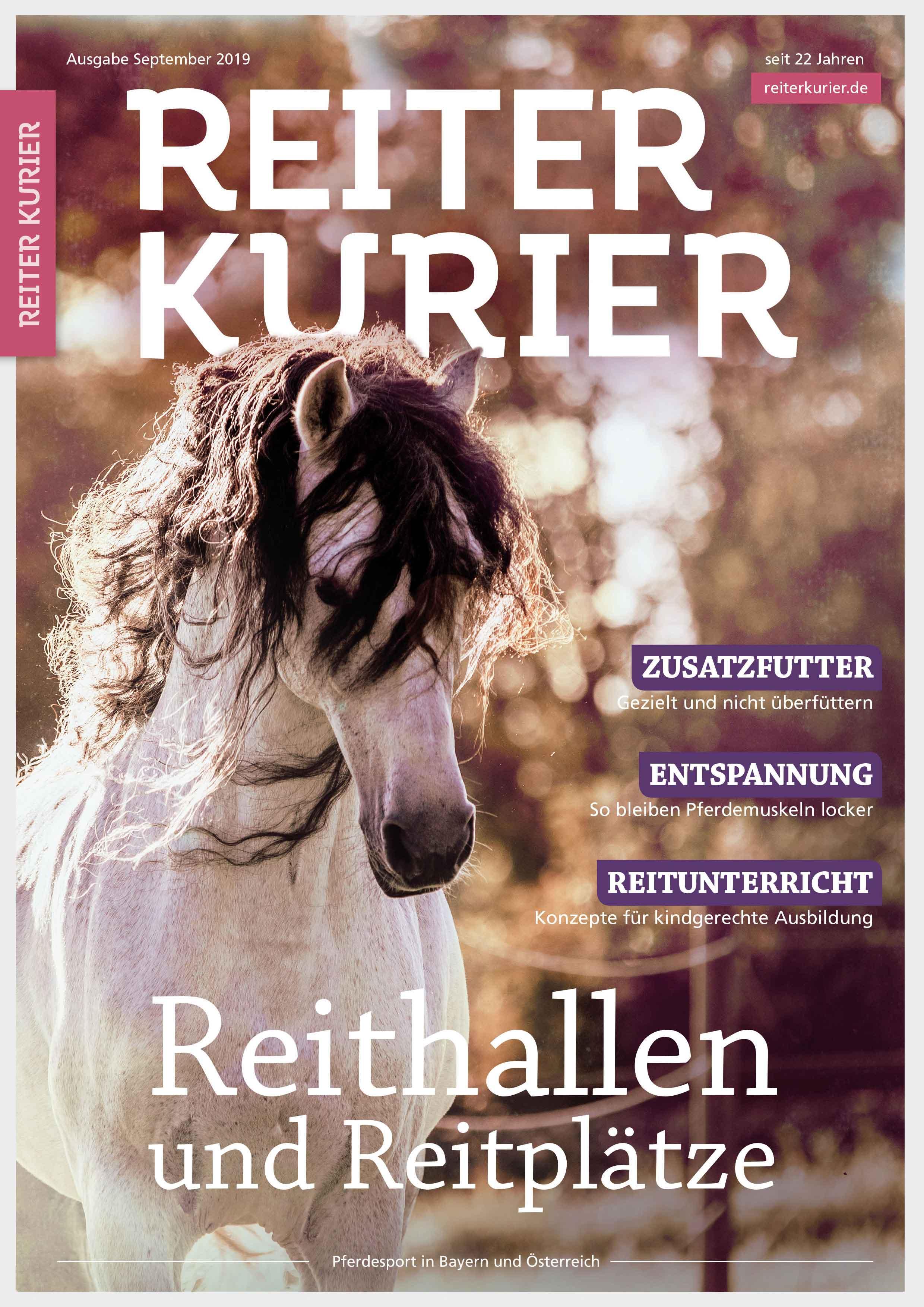 Septermber 2019 Reiter-Kurier Reithallen und Reitplätze