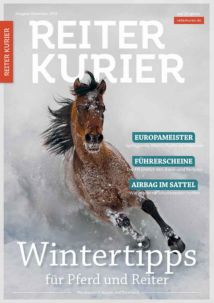 Ausgabe Dezember 2019 des Reiter-Kurier mit Wintertipps für Pferd und Reiter